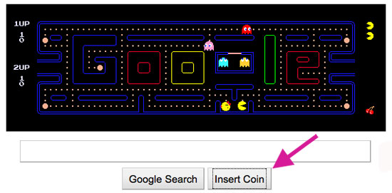 Google Logo Changed Into Pac-Man Game
