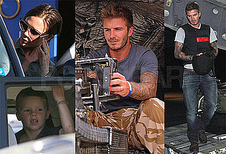 Pictures of David Beckham Visiting Troops While Victoria and the Boys Remain in LA