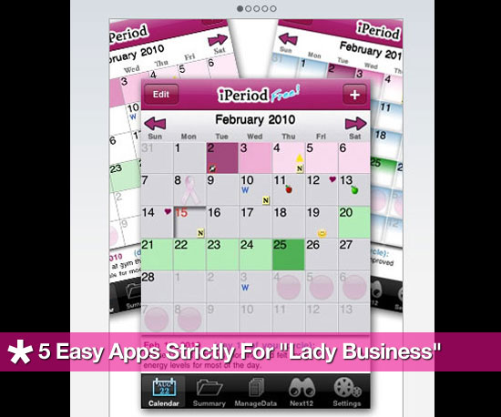 iPhone Apps to Track Your Period 2010-08-31 15:45:55