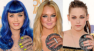 MTV Movie Awards Neon Nail Polish Trend