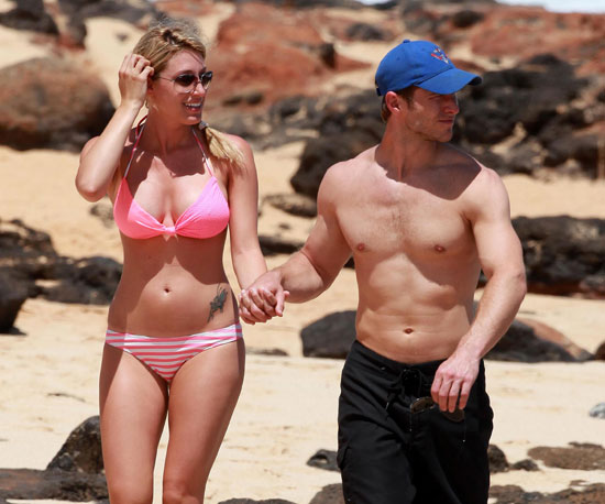 Slide Picture of Jake Pavelka Shirtless and Vienna Girardi in Bikini in Hawaii