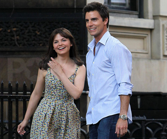 Slide Picture of Ginnifer Goodwin and Colin Egglesfield Filming Something Borrowed