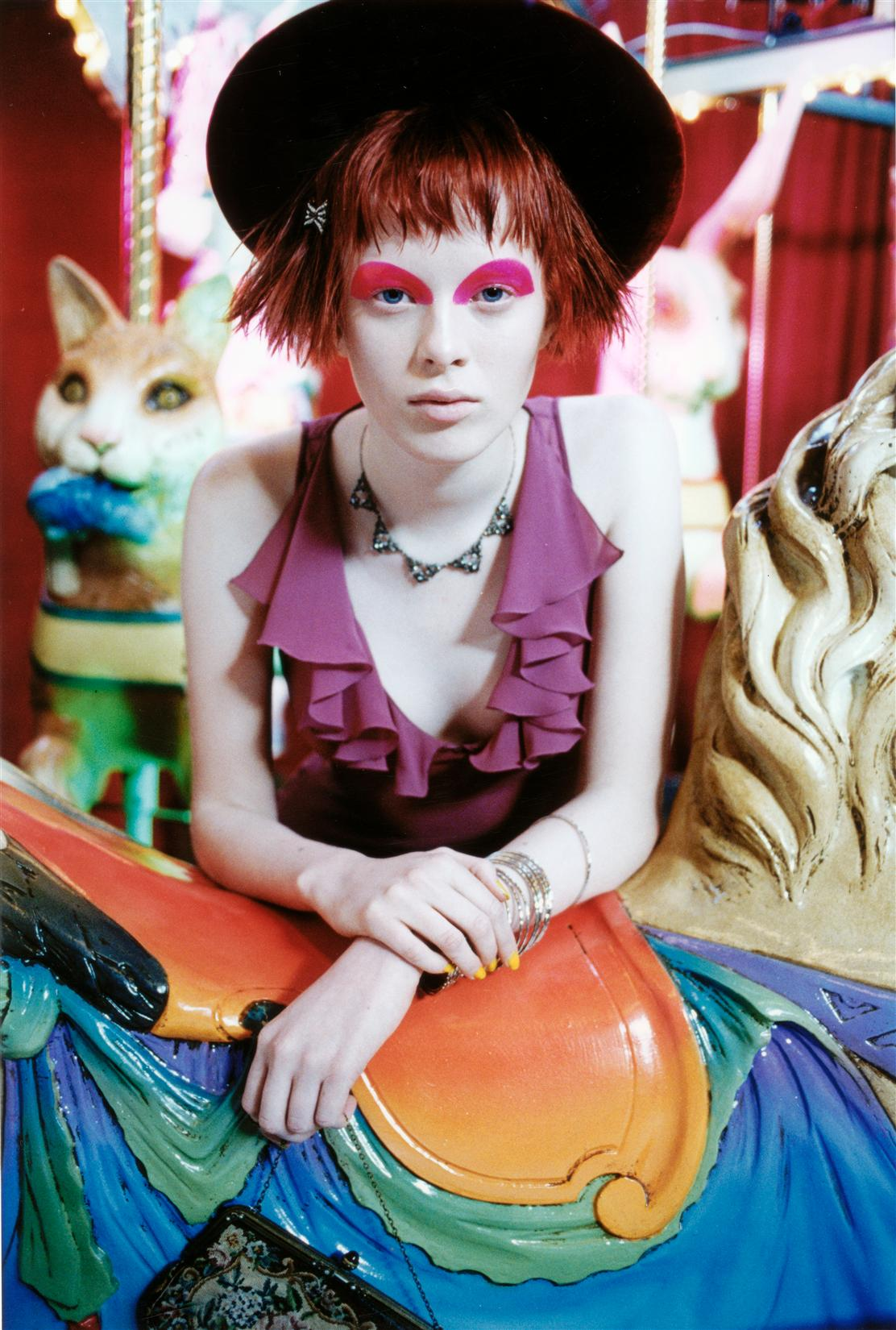 Karen in a funkadelic fashion spread for Vogue Italia.