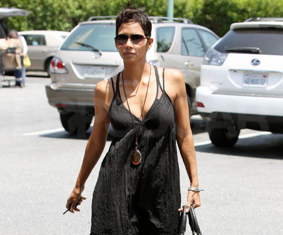 Slide Picture of Halle Berry Shopping at Bristol Farms in LA
