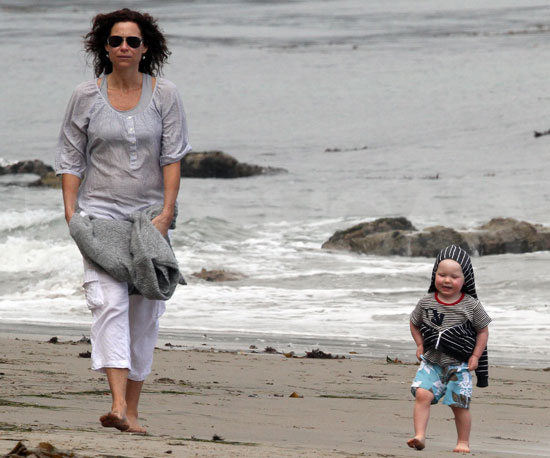 Slide Picture of Minnie and Henry Driver on the Beach in Malibu