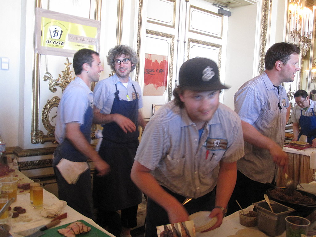 My first stop was at the Bi-Rite Market table. Here the team prepares its dishes.