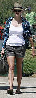 Reese Witherspoon Wore Shorts and Fedora to Son's Soccer Game in LA