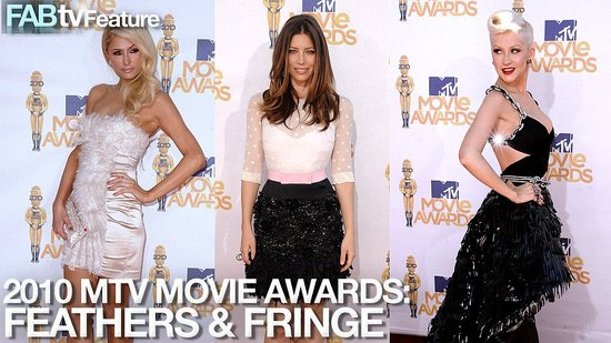 Christina Aguilera, Jessica Biel, and Paris Hilton Red Carpet Style At The MTV Movie Awards!