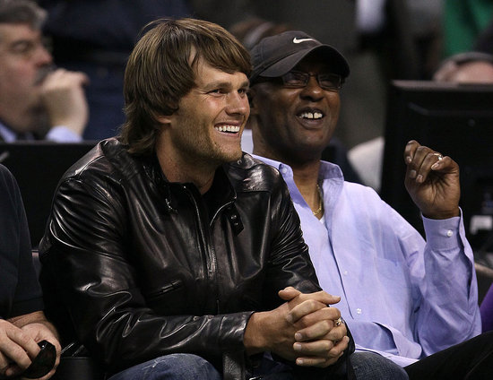 Pictures of Tom Brady at the NBA Finals Game in Boston
