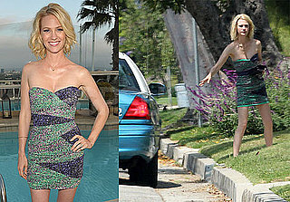 Pictures of January Jones Doing a Walk of Shame After a Party For the Oceans in LA