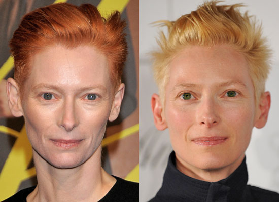 Tilda Swinton Blond and Red Hair Pictures