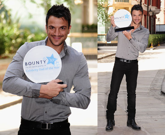 Pictures of Peter Andre Who Has Won Bounty Celeb Dad of the Year Ahead of Father's Day 2010