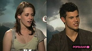 Kristen Stewart and Taylor Lautner in Rome