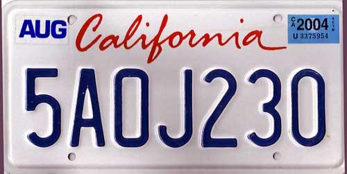 License Plate Ads in California