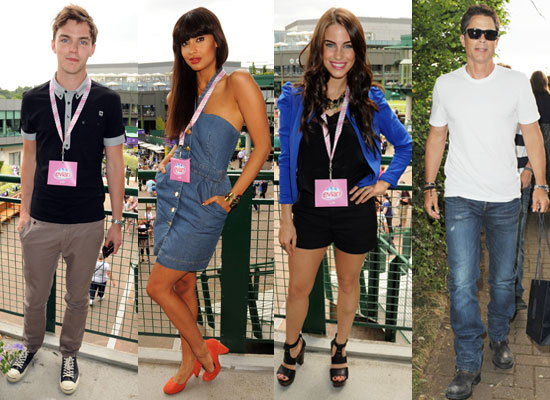 Pictures of Nicholas Hoult, Jameela Jamil, Jessica Lowndes and Rob Lowe at Wimbledon 2010