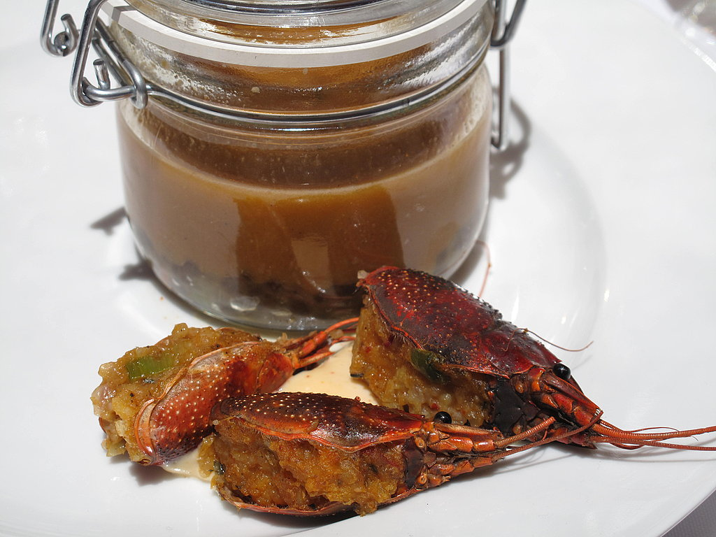 A rich crawfish bisque was served in an adorable little mason jar alongside heads that were stuffed with breaded crawfish. The crawfish stuffing was thick and savory, and I wished there were more than just three heads on my plate.