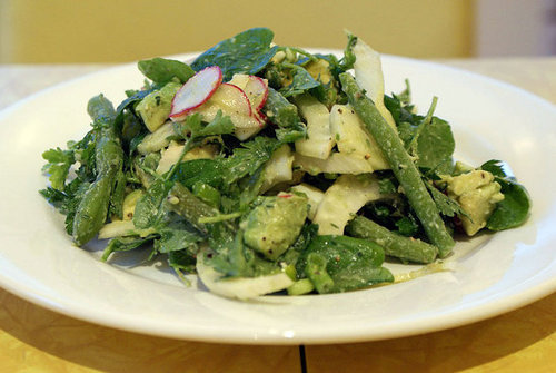 Quick and Easy Recipe For Spring Chopped Salad With Mint, Avocado, and Fennel