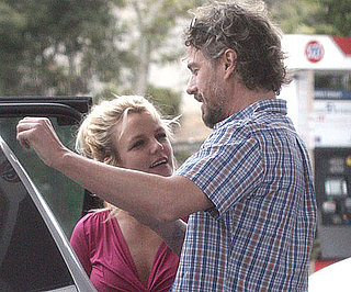Slide Picture of Britney Spears and Jason Trawick Pumping Gas