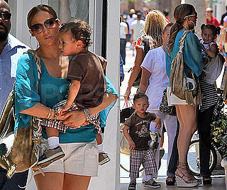 Pictures of Jennifer Lopez and Twins
