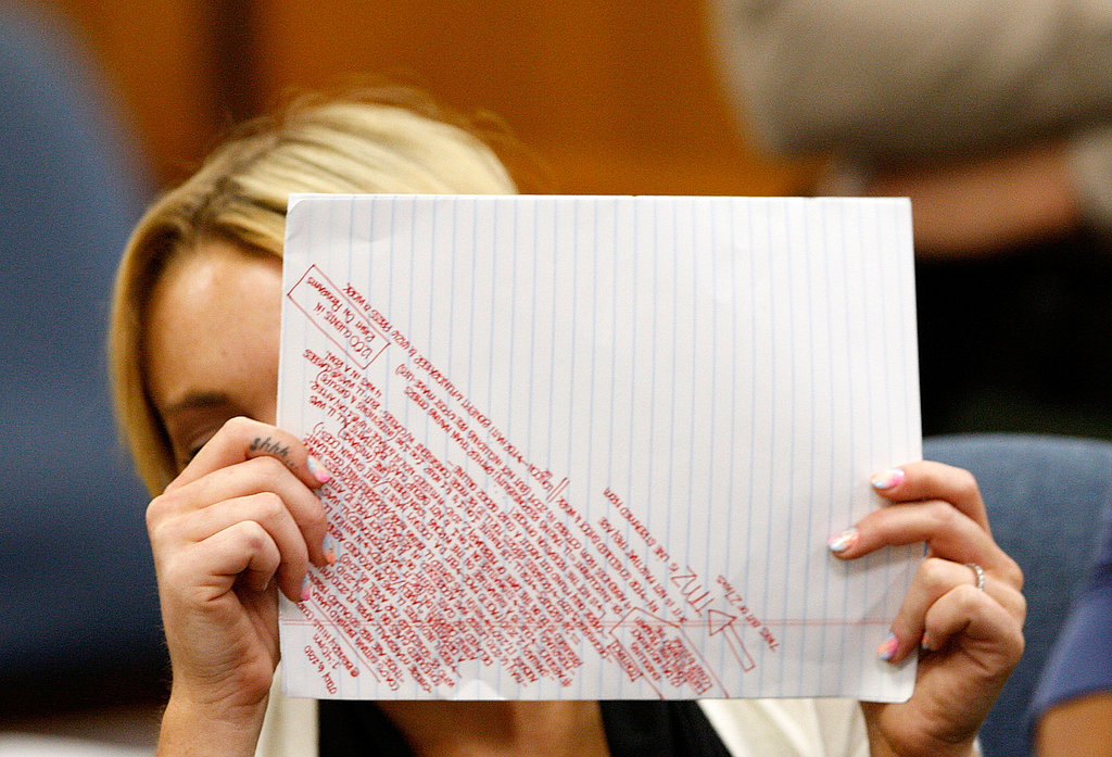 Pictures of Lohan's Court Notes