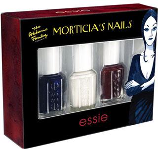 New Morticia Addams Essie Nail Polish Collection