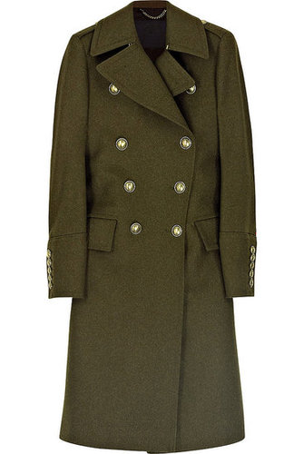 Burberry Prorsum|Double-breasted wool-blend military coat|1995