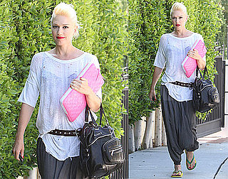 Pictures of Gwen Stefani Arriving at the Studio to Record Music in LA