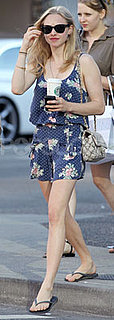 Amanda Seyfried Wears Romper and Ray Bans