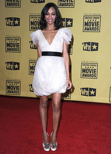 Zoe looked sweet wearing Jason Wu to the 2010 Critics' Choice Movie Awards.