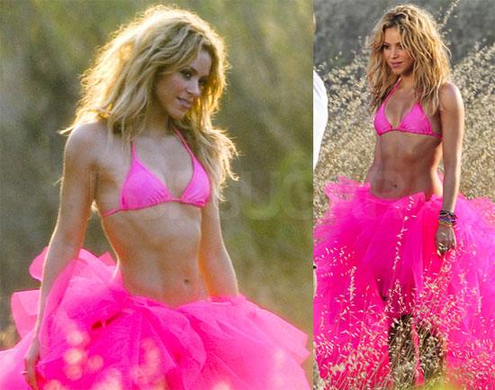 Shakira Bikini Pics in Pink For Ibiza Photo Shoot