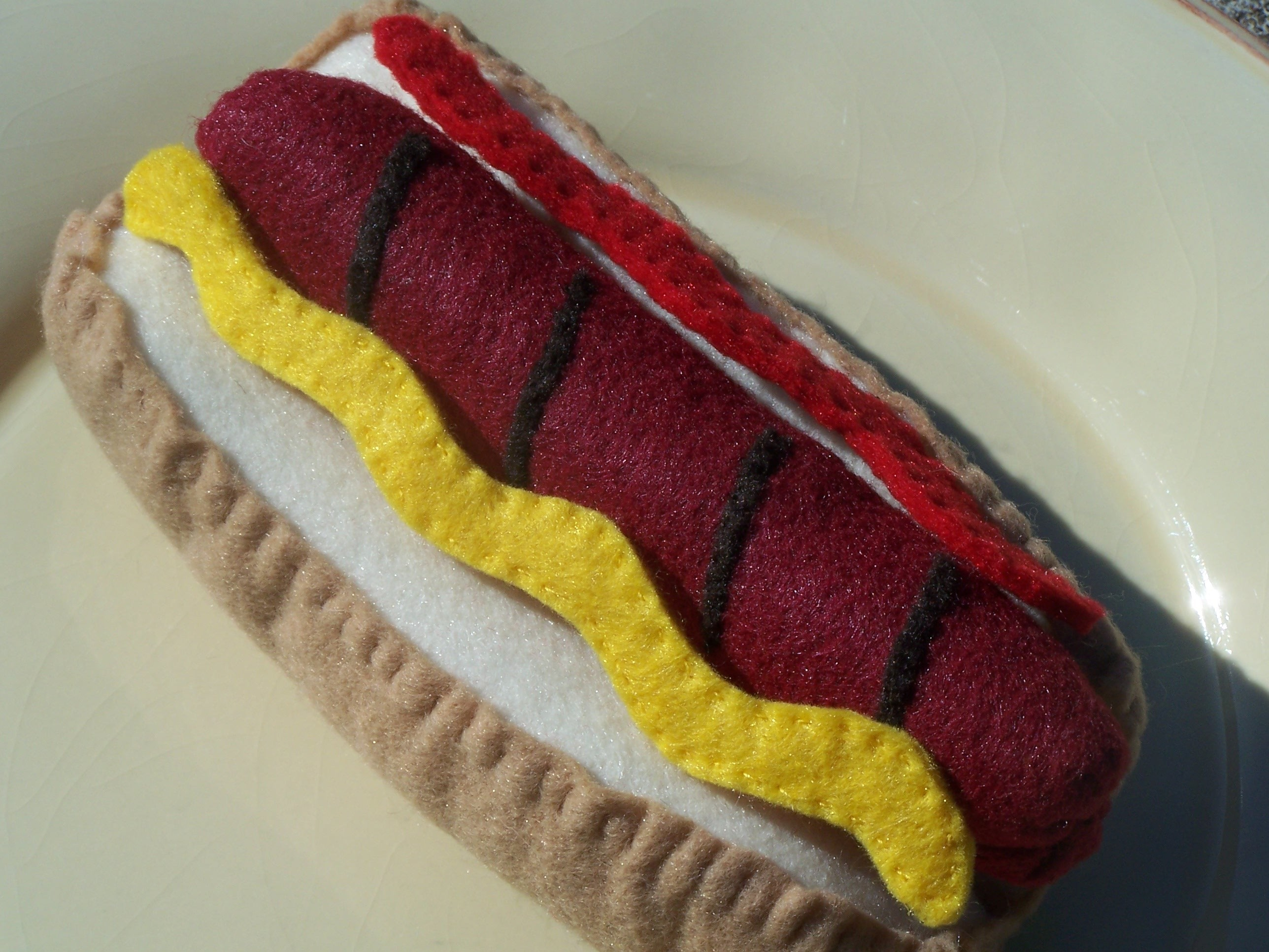 Felt Play Hot dog