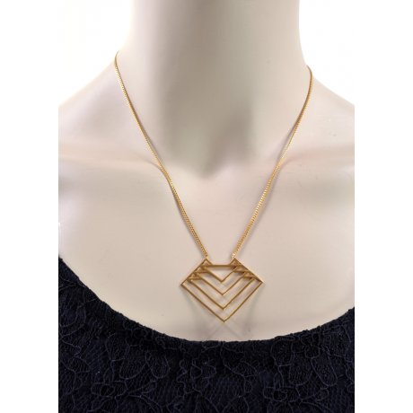 Zoe & Morgan Jett necklace 22 ct gold plate on Sterling Silver