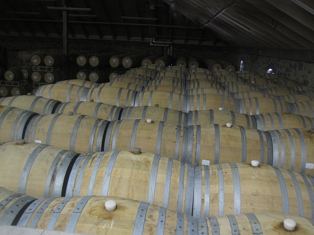 It seems as if there is an endless supply of barrels. These ones all have wine in them. You can tell because the silicon knob is pointing up.