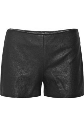 Theory|Leather shorts|NET-A-PORTER.COM 315