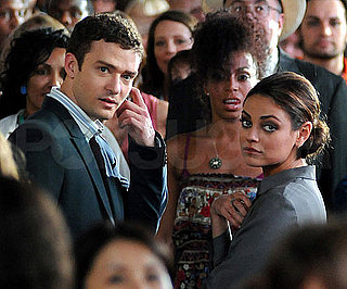Slide Picture of Justin Timberlake and Mila Kunis Filming Friends With Benefits in New York