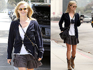 Pictures of Reese Witherspoon Wearing Cowboy Boots in LA