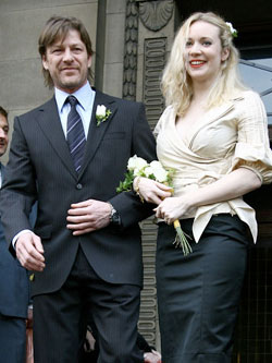 Pictures of Sean Bean and Georgina Sutcliffe on Wedding Day as They File Papers to Divorce