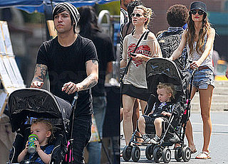 Pictures of Ashlee Simpson and Pete Wentz With Bronx in New York