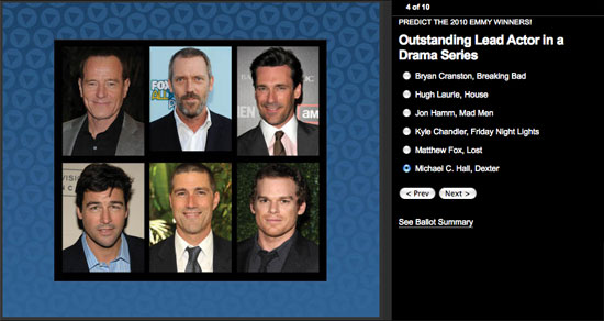 Predict the Winners of the Emmy Awards and Win an iPad