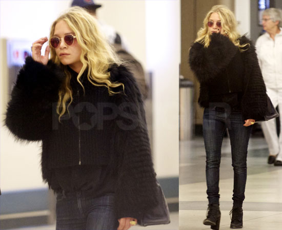 Mary-Kate Touches Down in LA and Gears Up For Fashion Week With Fab and Pop