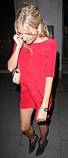 Sienna Miller Wears a Red Dress in London