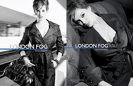 London Fog Signs Christina Hendricks