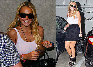 Pictures of Lindsay Lohan Out in LA After Release From Rehab