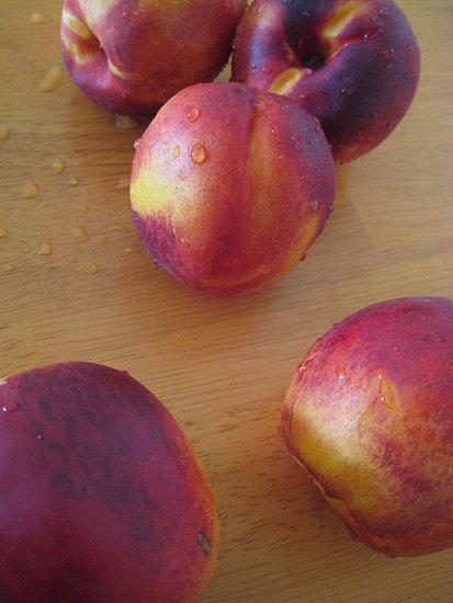 just 5 juicy peaches, cubed