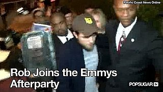 Video: Robert Pattinson Joins the Emmys Afterparty