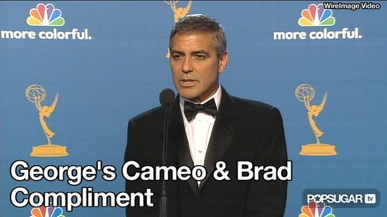 Video of George Clooney in Modern Family Skit and Talking About Brad Pitt at the Emmys