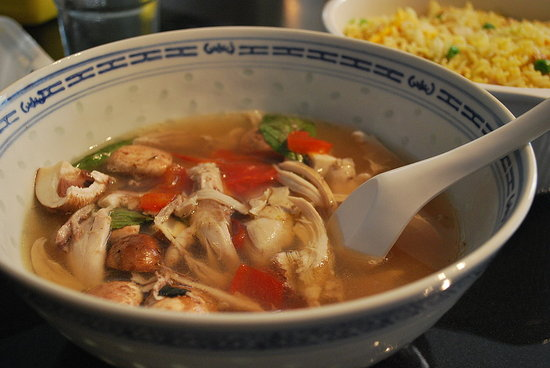 Thai basil chicken soup