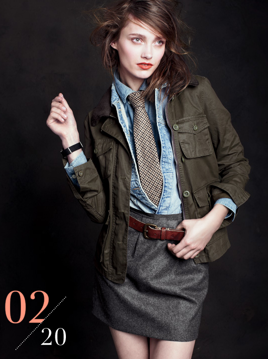 A menswear-inspired outfit that's insanely sexy. Check out that master layering job.