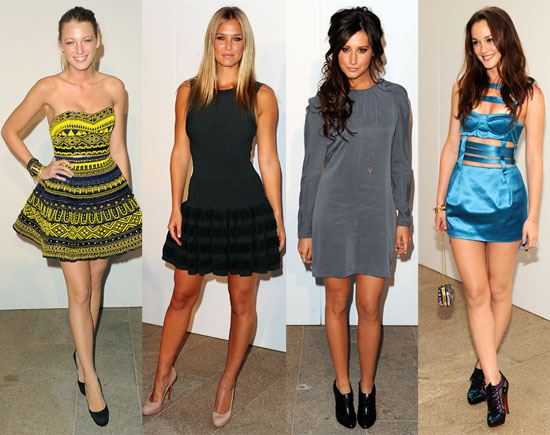 Blake Lively, Leighton Meester, Gisele Bundchen, Anna Wintour, Bar Refaeli at Fashion's Night Out Runway Show