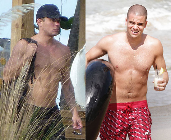 Pictures of Shirtless Ryan Phillippe and Shirtless Mark Salling From Glee in Puerto Rico